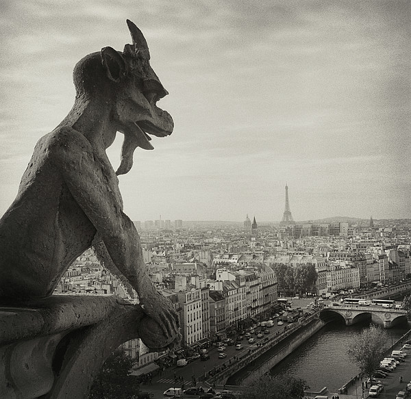 Gargoyle Of Notre Dame Print by Zeb Andrews
