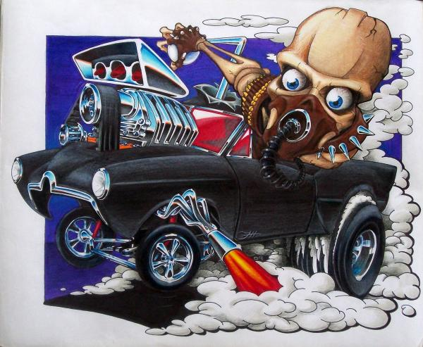 Gasser Print by Jason Hunt