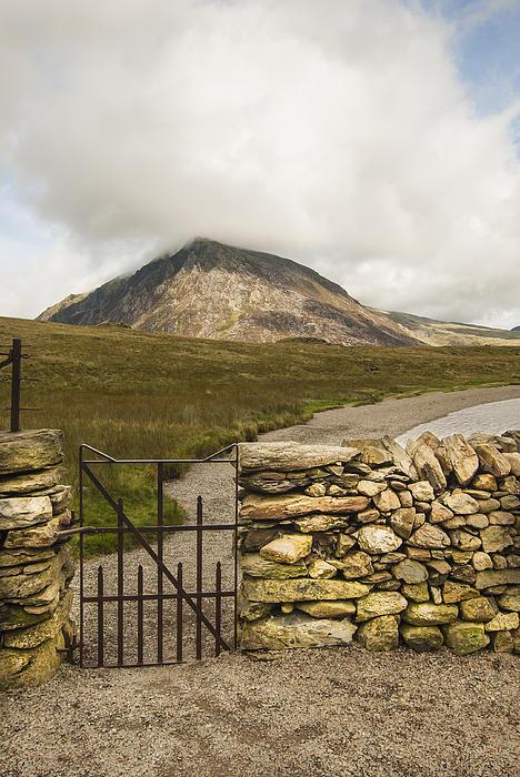 Gate At Llyn Idwal Print by John Hallett