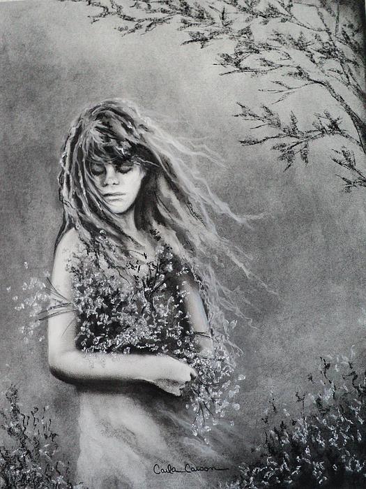 Carla Carson - Gathering Spring Wildflowers