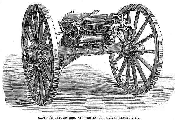 Gatling Gun, 1867 Print by Granger