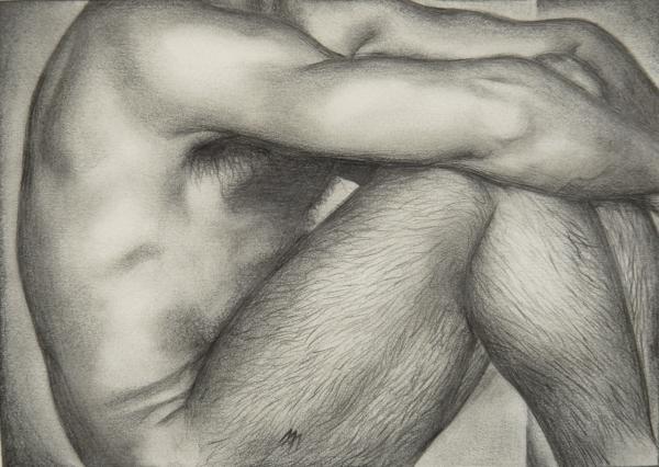 Gay Erotic.3 Drawing - Gay Erotic.3 Fine Art Print - Michael Flynt
