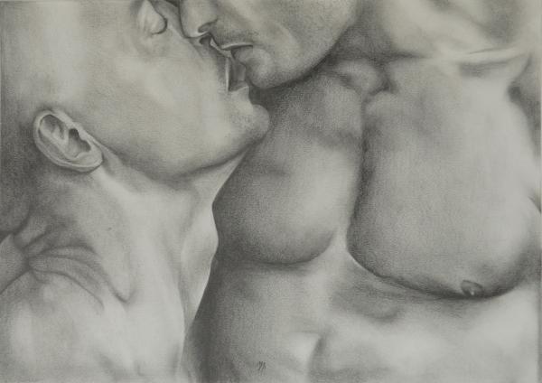 Gay Erotic.4 Drawing - Gay Erotic.4 Fine Art Print - Michael Flynt