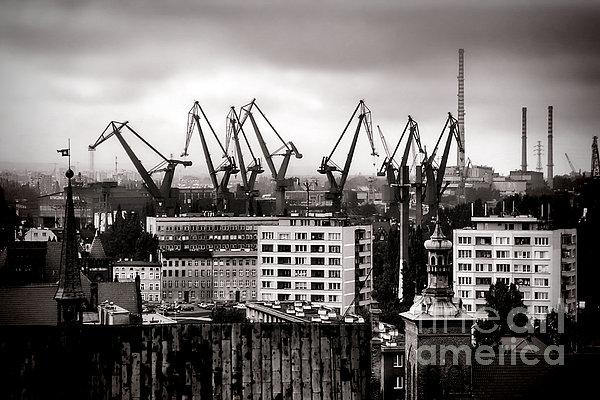 Gdansk Shipyard Print by Olivier Le Queinec
