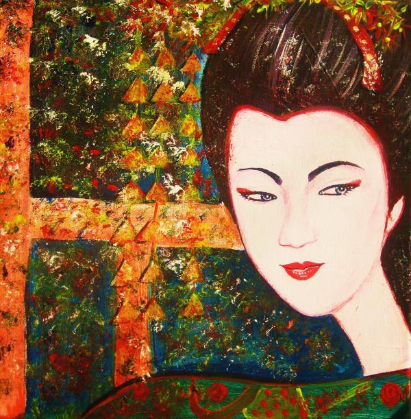Geisha Print by Anastasis  Anastasi