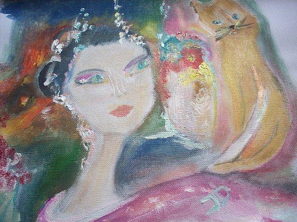 Judith Desrosiers - Geisha and puss