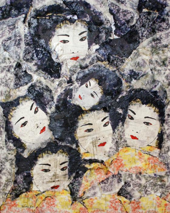 Geisha Mixed Media  - Geisha Fine Art Print
