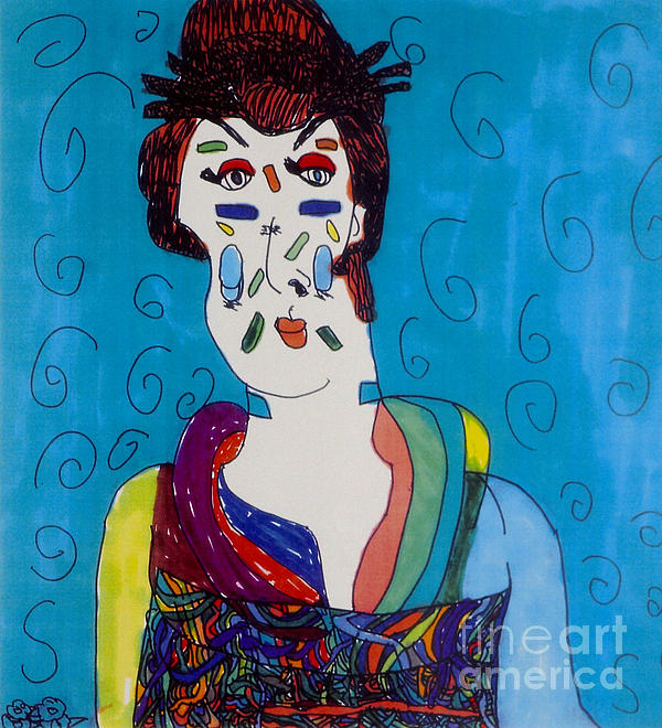 Geisha Print by Stephanie Ward