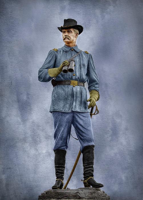 General John Buford At Gettysburg Print by Randy Steele