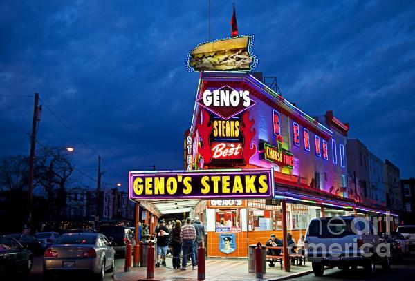 Geno's Steaks South Philly Print by John Greim