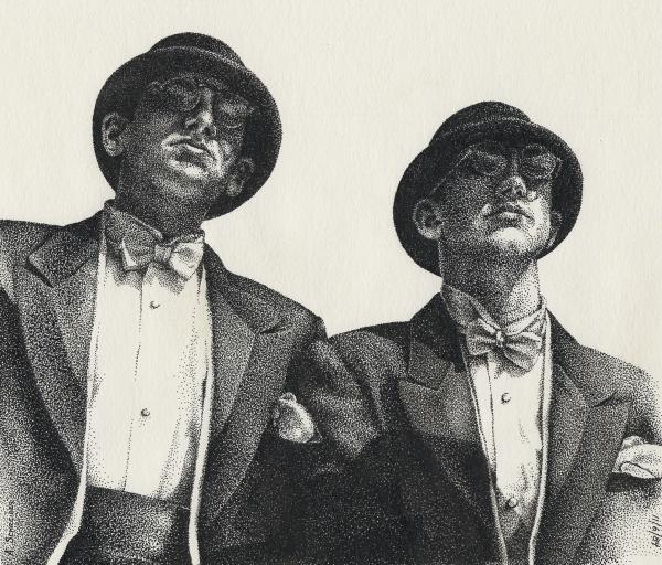 Gents Print by Amy S Turner
