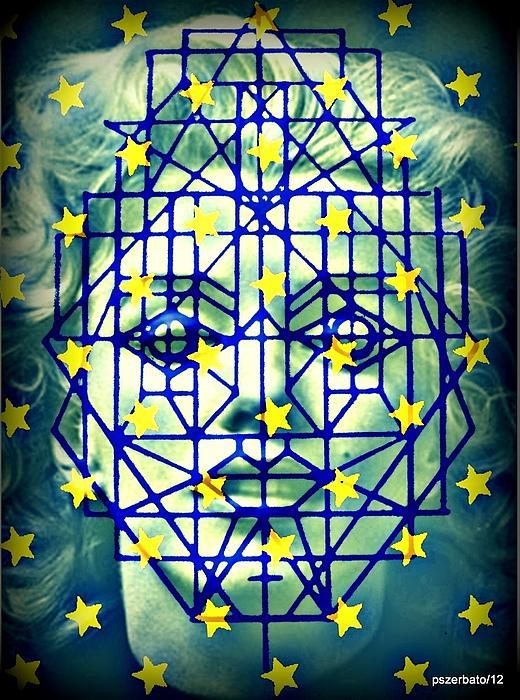Geometrized Mask Print by Paulo Zerbato