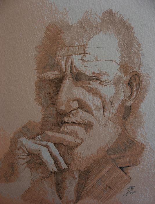 George Bernard Shaw Print by Ray Agius