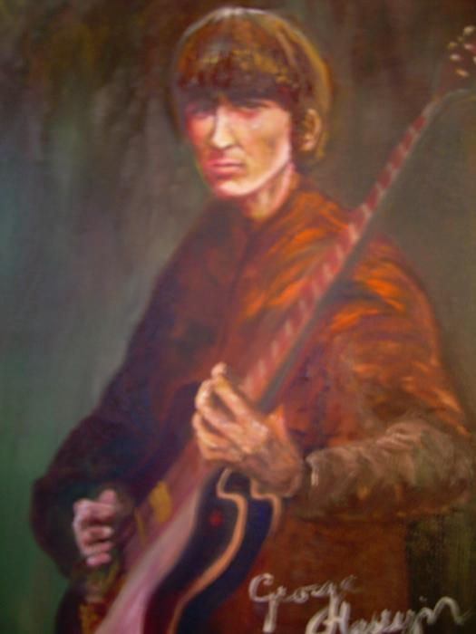 George Harrison Print by Leland Castro