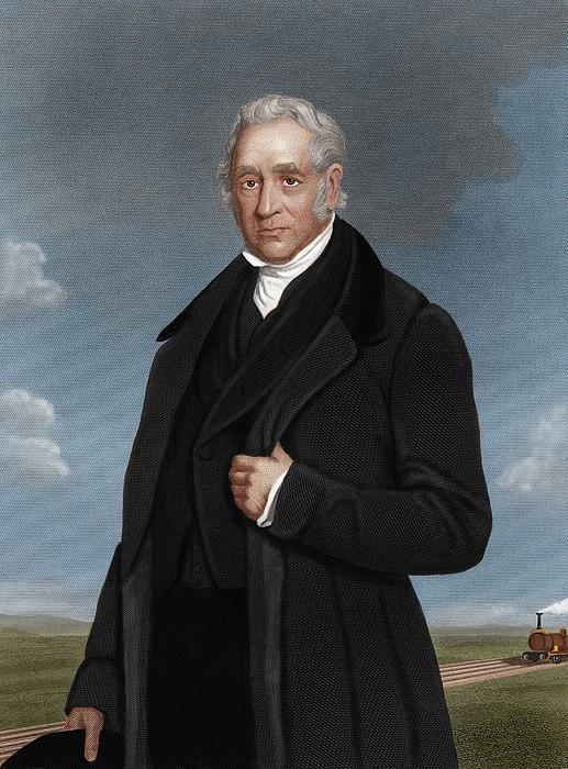 George Stephenson, British Engineer Print by Maria Platt-evans