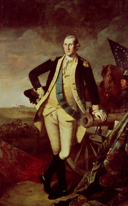 George Washington At Princeton Print by Charles Willson Peale