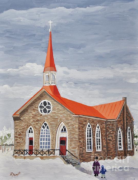 Georgetown Presbyterian Church Print by Reb Frost
