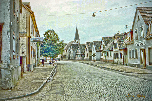 German Village Print by Chuck Staley