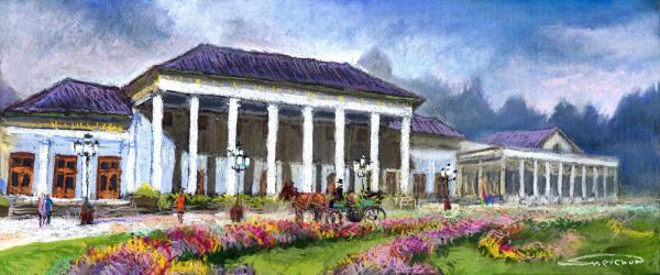 Germany Baden-baden Kurhaus Kasino Print by Yuriy  Shevchuk