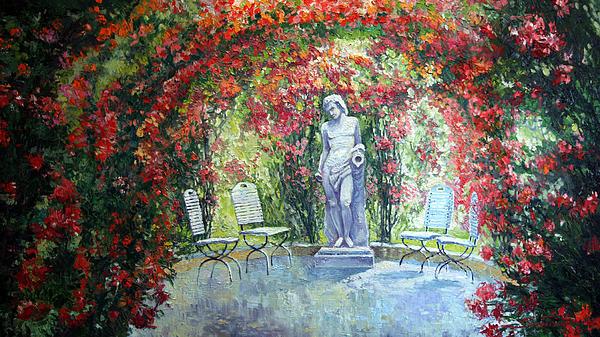 Germany Baden-baden Rosengarten 02 Print by Yuriy  Shevchuk