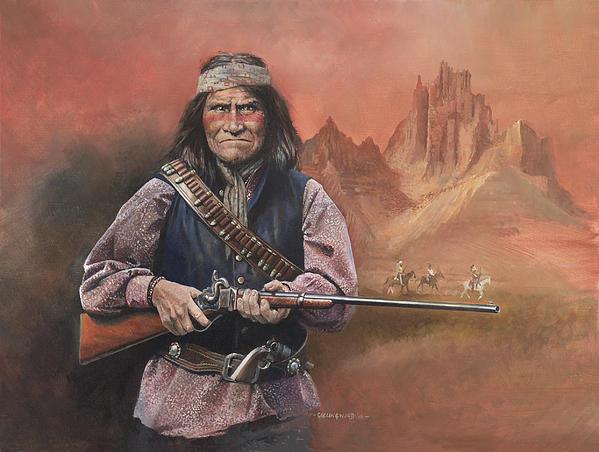 Geronimo Print by Chris Collingwood