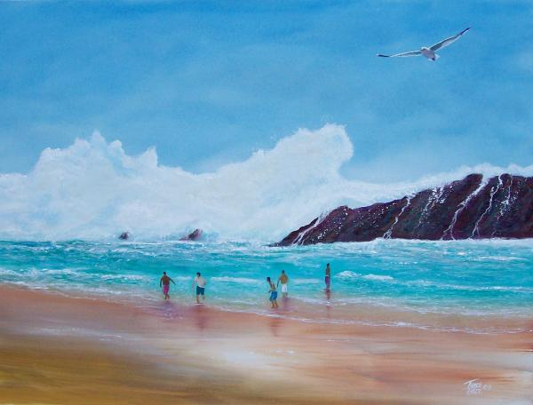 Get Off The Beach Painting  - Get Off The Beach Fine Art Print