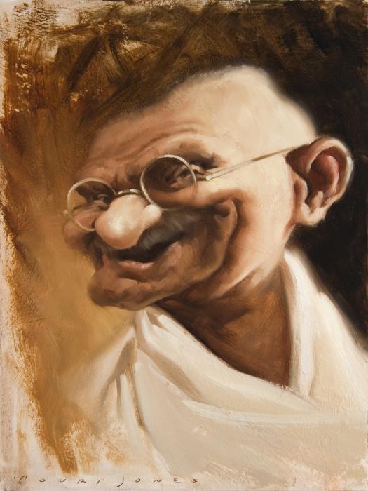 Ghandi Print by Court Jones