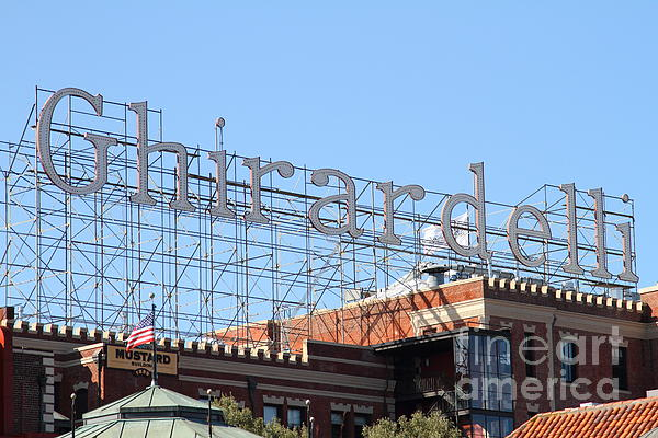 Ghirardelli Chocolate Factory San Francisco California . 7d13979 Print by Wingsdomain Art and Photography
