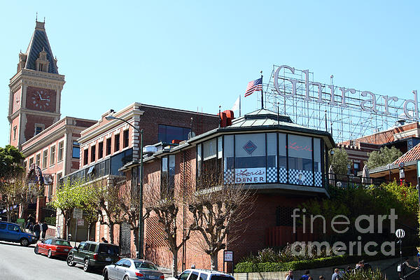 Ghirardelli Chocolate Factory San Francisco California . 7d14093 Print by Wingsdomain Art and Photography
