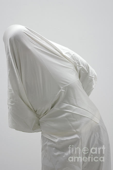 Ghost - Person Covered With White Cloth Print by Matthias Hauser