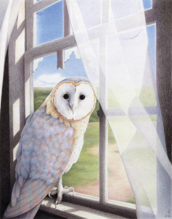 Ghost In The Attic Print by Amy S Turner