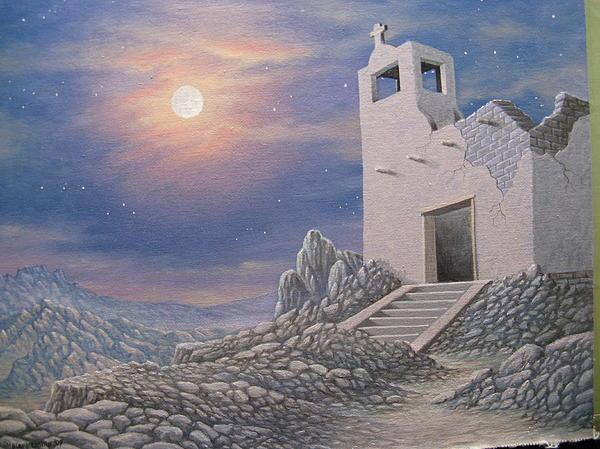 Ghost Of Terrlingua Print by Arley Blankenship