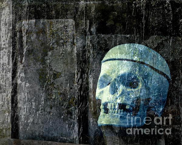 Ghost Skull Print by Edward Fielding