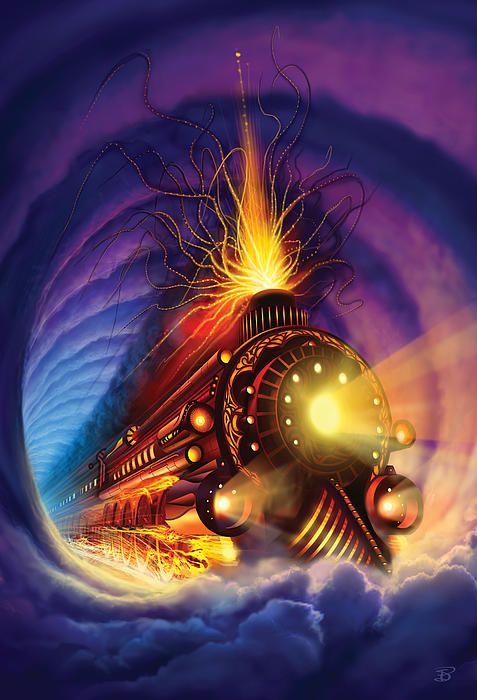 Ghost Train Print by Philip Straub