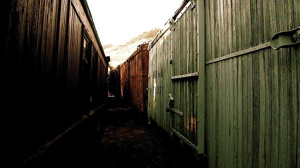 Ghost Train Yard Print by Travis Burns