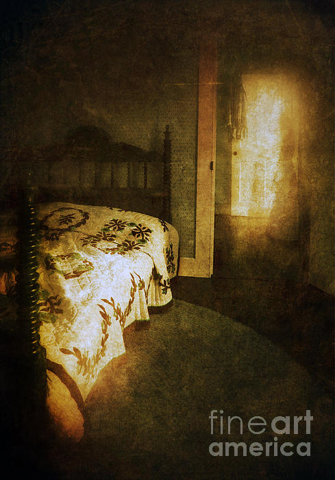 Ghostly Figure In Hallway Print by Jill Battaglia