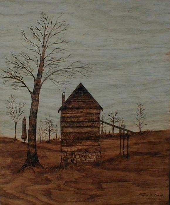 Ghostly Tobacco Barn Painting  - Ghostly Tobacco Barn Fine Art Print