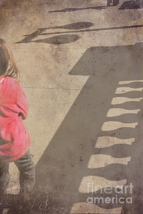 Girl And Shadows Print by Jim Wright