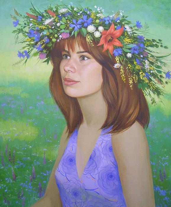 Girl in diadem Painting