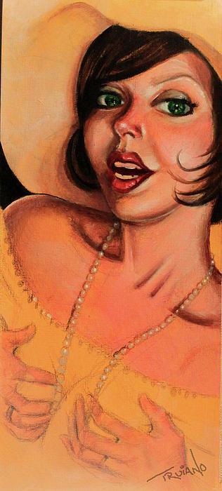 Girl In Hat Print by Matt Truiano