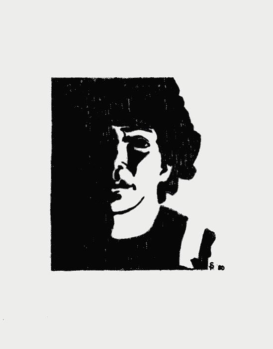Girl In Shadow Print by Sheri Parris