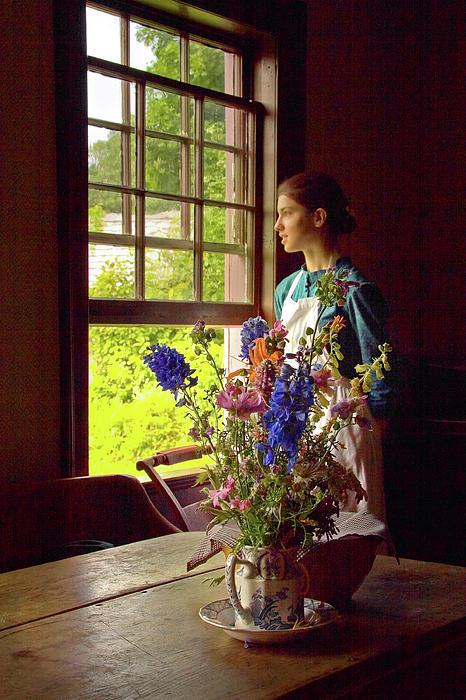 Levin Rodriguez - Girl Looking Through an Open Window - Vermeer