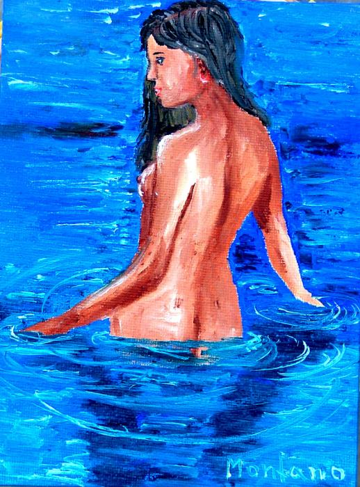 Girl nude swimming Painting - Girl nude swimming Fine Art Print - Inna ...