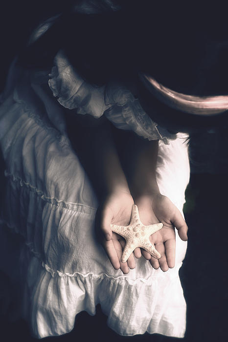 Girl With A Starfish Print by Joana Kruse