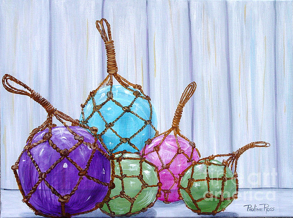 Glass Bouys Print by Pauline Ross