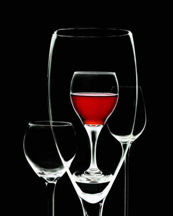 Glass Of Wine In Glass Print by Tom Mc Nemar