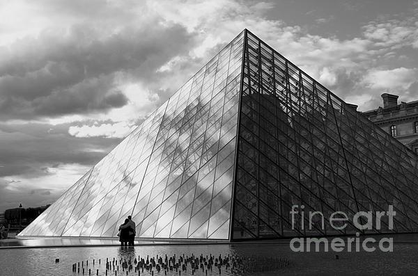 Glass Pyramid. Louvre. Paris.  Print by Bernard Jaubert