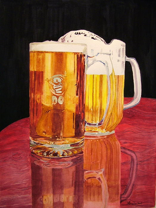 glass beer on wood - photo #45