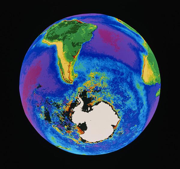 Global Biosphere, Southern Hemisphere, From Space Print by Gene Feldman, Nasa Gsfc