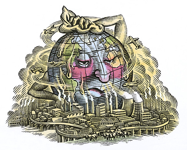 Global Warming, Conceptual Image Print by Bill Sanderson